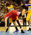 Los Angeles Clippers power forward Blake Griffin (32) falls to the ground as Denver Nuggets small forward Kenneth Faried (35) avoids contact during the second half of the Nugget's 92-78 win at the Pepsi Center on Tuesday, January 1, 2013. AAron Ontiveroz, The Denver Post