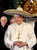 A file handout picture taken on March 25, 2012 and released by the Osservatore Romano shows Pope Benedict XVI wearing a sombrero in Leon. AFP PHOTO / OSSERVATORE ROMANO