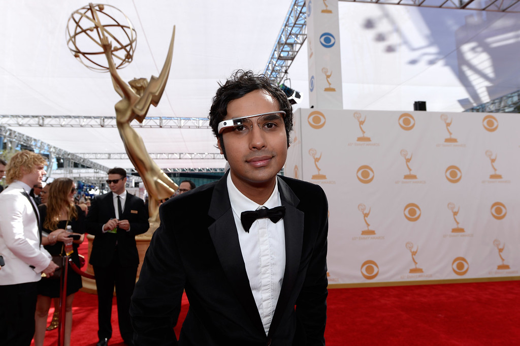 Description of . Actor Kunal Nayyar arrives at the 65th Annual Primetime Emmy Awards held at Nokia Theatre L.A. Live on September 22, 2013 in Los Angeles, California.  (Photo by Kevork Djansezian/Getty Images)