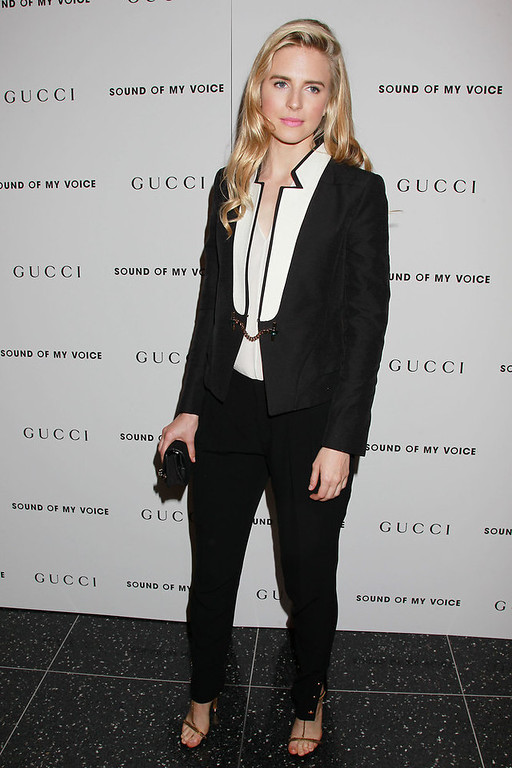 Description of . In this April 22, 2012 photo, actress Brit Marling is shown at a screening of Fox Searchlight Pictures'