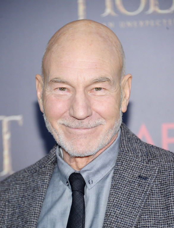 "Description of . Sir Patrick Stewart attends ""The Hobbit: An Unexpected Journey\"" New York Premiere Benefiting AFI at Ziegfeld Theater on December 6, 2012 in New York City.  (Photo by Michael Loccisano/Getty Images)"