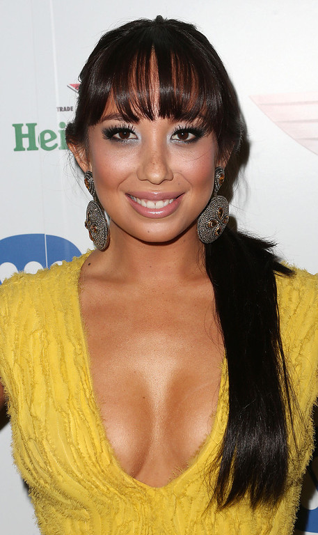 Description of . Dancer Cheryl Burke attends Warner Music Group's 2013 Grammy Celebration at Chateau Marmont's Bar Marmont on February 10, 2013 in Hollywood, California.  (Photo by Frederick M. Brown/Getty Images)