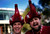 Alabama Crimson Tide fans wear elephant hats outside Sun Life stadium before the BCS National Championship college football game between Alabama and the Notre Dame Fighting Irish in Miami, Florida January 7, 2013. REUTERS/Mike Segar