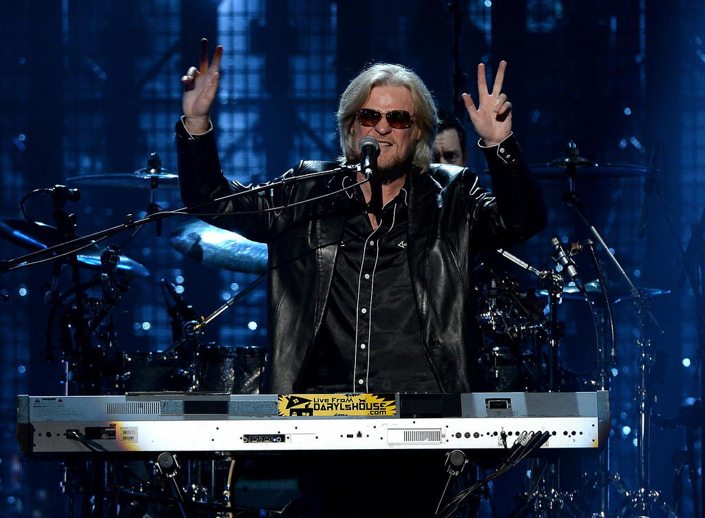 Description of . Inductee Daryl Hall of Hall and Oates performs onstage at the 29th Annual Rock And Roll Hall Of Fame Induction Ceremony at Barclays Center of Brooklyn on April 10, 2014 in New York City.  (Photo by Larry Busacca/Getty Images)