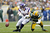Morgan Burnett #42 of the Green Bay Packers defends a pass against Kyle Rudolph #82 of the Minnesota Vikings during the game at Lambeau Field on December 2, 2012 in Green Bay, Wisconsin. The Packers won 23-14. (Photo by Joe Robbins/Getty Images)
