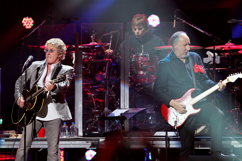 Description of . This image released by Starpix shows Roger Daltrey, left, and Pete Townshend of The Who performing at the 12-12-12 The Concert for Sandy Relief at Madison Square Garden in New York on Wednesday, Dec. 12, 2012. Proceeds from the show will be distributed through the Robin Hood Foundation. (AP Photo/Starpix, Dave Allocca)
