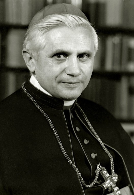 Description of . A portrait taken in 1996 shows German Cardinal Joseph Ratzinger. Ratzinger was elected the 265th pope of the Roman Catholic Church 19 April 2005 at the Vatican City, becoming Pope Benedict XVI. /AFP/Getty Images