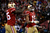 Tight end Vernon Davis #85 celebrates with Wide receiver Michael Crabtree #15 of the San Francisco 49ers after scoring a touchdown in the second quarter against the Green Bay Packers during the NFC Divisional Playoff Game at Candlestick Park on January 12, 2013 in San Francisco, California.  (Photo by Harry How/Getty Images)
