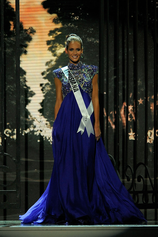 Description of . Miss Louisiana USA Brittany Alyson Guidry competes in the 2014 Miss USA Competition at The Baton Rouge River Center on June 8, 2014 in Baton Rouge, Louisiana.  (Photo by Stacy Revere/Getty Images)