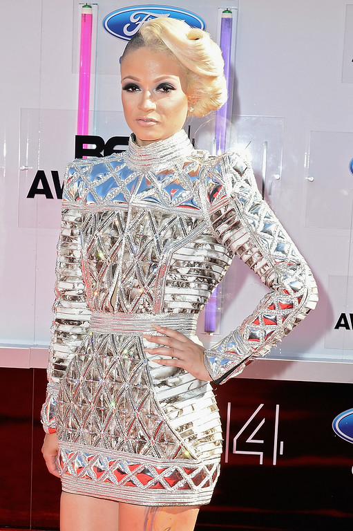 Description of . Rapper Charli Baltimore attends the BET AWARDS '14 at Nokia Theatre L.A. LIVE on June 29, 2014 in Los Angeles, California.  (Photo by Earl Gibson III/Getty Images for BET)