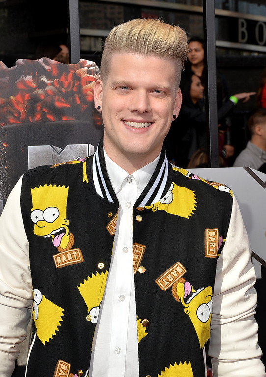 Description of . Singer Scott Hoying attends the 2014 MTV Movie Awards at Nokia Theatre L.A. Live on April 13, 2014 in Los Angeles, California.  (Photo by Michael Buckner/Getty Images)