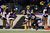 Running back Bernard Pierce #30 of the Baltimore Ravens falls out of bounds after a long run during the second half against the New York Giants at M&T Bank Stadium on December 23, 2012 in Baltimore, Maryland.  (Photo by Rob Carr/Getty Images)