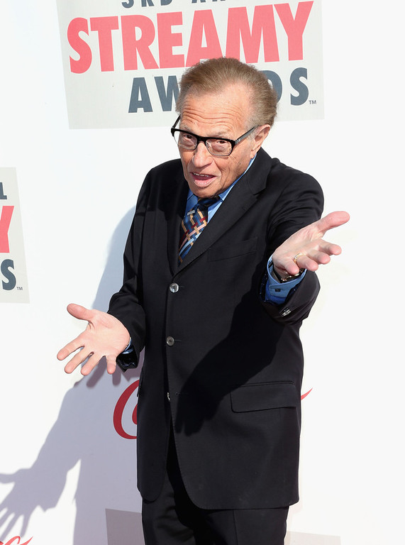 Description of . TV personality Larry King attends the 3rd Annual Streamy Awards at Hollywood Palladium on February 17, 2013 in Hollywood, California.  (Photo by Frederick M. Brown/Getty Images)