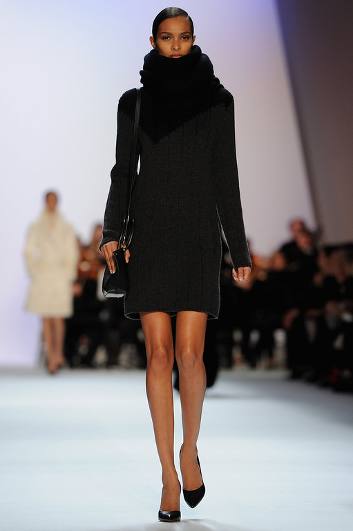 Description of . A model walks the runway during Akris Fall/Winter 2013 Ready-to-Wear show as part of Paris Fashion Week on March 3, 2013 in Paris, France.  (Photo by Pascal Le Segretain/Getty Images)