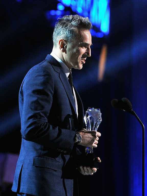 Description of . Actor Daniel Day-Lewis accepts the award for Best Actor  onstage at the 18th Annual Critics' Choice Movie Awards held at Barker Hangar on January 10, 2013 in Santa Monica, California.  (Photo by Larry Busacca/Getty Images for BFCA)