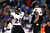 Tyrod Taylor #2 and Ray Lewis #52 of the Baltimore Ravens warms up prior to the 2013 AFC Championship game against the New England Patriots at Gillette Stadium on January 20, 2013 in Foxboro, Massachusetts.  (Photo by Jim Rogash/Getty Images)