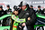 Danica Patrick, driver of the #10 GoDaddy.com Chevrolet, celebrates with crew chief Tony Gibson after qualifying for the NASCAR Sprint Cup Series Daytona 500 at Daytona International Speedway on February 17, 2013 in Daytona Beach, Florida.  (Photo by Chris Graythen/Getty Images)