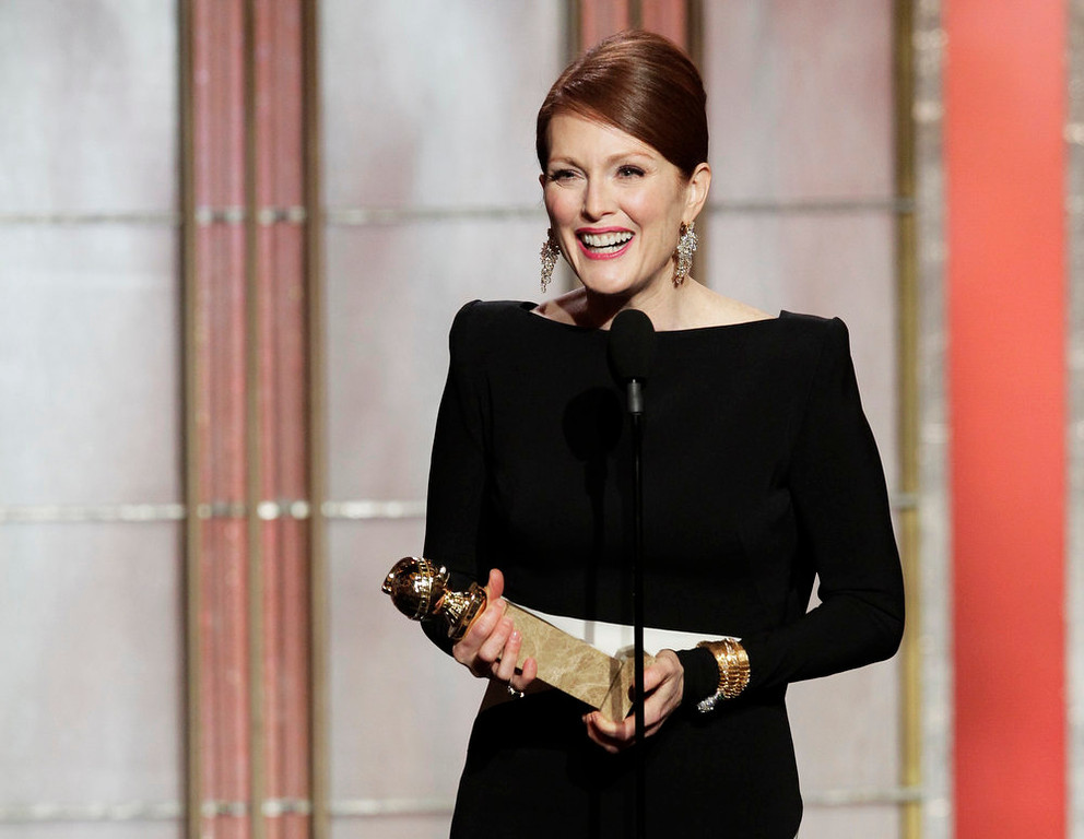 Description of . Best Actress in a Miniseries or Motion Picture Made for Television: Julianne Moore, Game Change