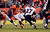 Baltimore Ravens running back Ray Rice (27) is stopped by Denver Broncos outside linebacker Wesley Woodyard (52) during the first quarter.  The Denver Broncos vs Baltimore Ravens AFC Divisional playoff game at Sports Authority Field Saturday January 12, 2013. (Photo by John Leyba,/The Denver Post)