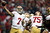 Quarterback Colin Kaepernick #7 of the San Francisco 49ers passes the ball in the first quarter against the Atlanta Falcons in the NFC Championship game at the Georgia Dome on January 20, 2013 in Atlanta, Georgia.  (Photo by Chris Graythen/Getty Images)