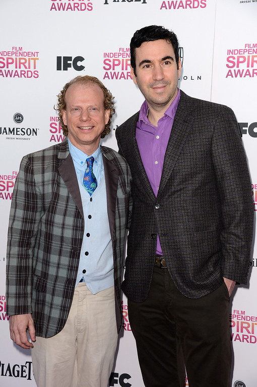 Description of . SANTA MONICA, CA - FEBRUARY 23:  Producers Bruce Cohen (L) and Jonathan Gordon attend the 2013 Film Independent Spirit Awards at Santa Monica Beach on February 23, 2013 in Santa Monica, California.  (Photo by Frazer Harrison/Getty Images)