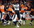 Denver Broncos quarterback Peyton Manning (18) tries to pull in the ball during the second half.  The Denver Broncos vs Baltimore Ravens AFC Divisional playoff game at Sports Authority Field Saturday January 12, 2013. (Photo by Tim Rasmussen,/The Denver Post)