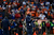 Denver Broncos head coach John Fox yells onto the field in the third quarter. The Denver Broncos vs Baltimore Ravens AFC Divisional playoff game at Sports Authority Field Saturday January 12, 2013. (Photo by Joe Amon,/The Denver Post)