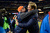 Denver Broncos head coach John Fox gets a hug from defensive coordinator Jack Del Rio as the Denver Broncos took on the Kansas City Chiefs at Sports Authority Field at Mile High in Denver, Colorado on December 30, 2012. Joe Amon, The Denver Post