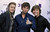 From left, Drew Chadwick, Wesley Stromberg and Keaton Stromberg, of musical group Emblem3, arrive at VH1 Divas on Sunday, Dec. 16, 2012, at the Shrine Auditorium in Los Angeles. (Photo by Jordan Strauss/Invision/AP)