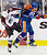 Colorado Avalanche's PA Parenteau (15) checks Edmonton Oilers' Ryan Nugent-Hopkins during the first period of their NHL hockey game, Monday, Jan. 28, 2013, in Edmonton, Alberta. (AP Photo/The Canadian Press, Jason Franson)