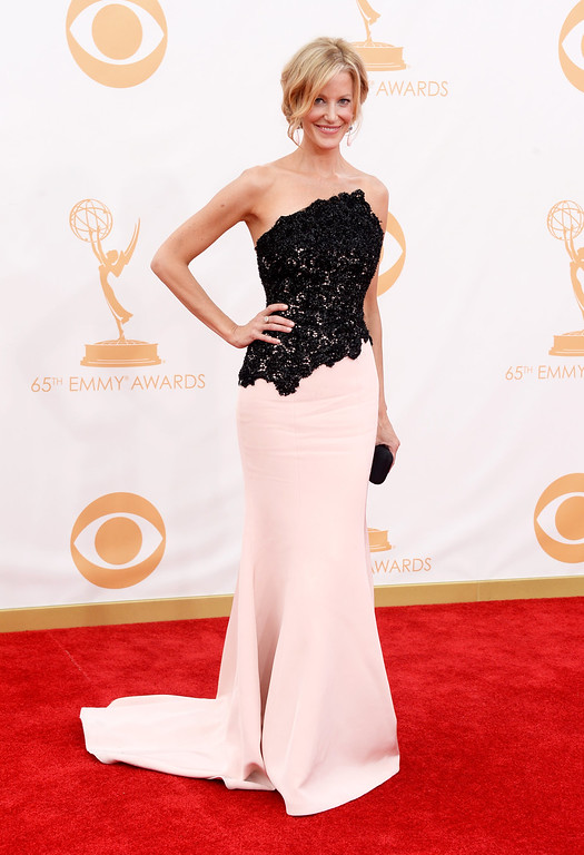Description of . Actress Anna Gunn arrives at the 65th Annual Primetime Emmy Awards held at Nokia Theatre L.A. Live on September 22, 2013 in Los Angeles, California.  (Photo by Frazer Harrison/Getty Images)