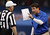 Florida head coach Will Muschamp argues with an official in the first half of the Sugar Bowl NCAA college football game against Louisville Wednesday, Jan. 2, 2013, in New Orleans. (AP Photo/Butch Dill)