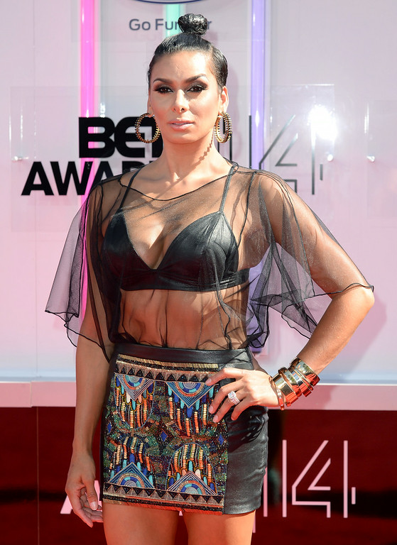 Description of . TV personality Laura Govan attends the BET AWARDS '14 at Nokia Theatre L.A. LIVE on June 29, 2014 in Los Angeles, California.  (Photo by Earl Gibson III/Getty Images for BET)