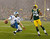 Detroit Lions' Matthew Stafford reacts after running for a touchdown against Green Bay Packers' Brad Jones (59) during the first half of an NFL football game Sunday, Dec. 9, 2012, in Green Bay, Wis. (AP Photo/Jeffrey Phelps)