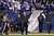 Head coach Chuck Pagano of the Indianapolis Colts celebrates after a 101-yard kickoff return for touchdown by Deji Karim against the Houston Texans during the game at Lucas Oil Stadium on December 30, 2012 in Indianapolis, Indiana. The Colts defeated the Texans 28-16. (Photo by Joe Robbins/Getty Images)