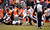 Denver Broncos running back Jacob Hester (40) gets up-ended during the first half.  The Denver Broncos vs Baltimore Ravens AFC Divisional playoff game at Sports Authority Field Saturday January 12, 2013. (Photo by John Leyba,/The Denver Post)