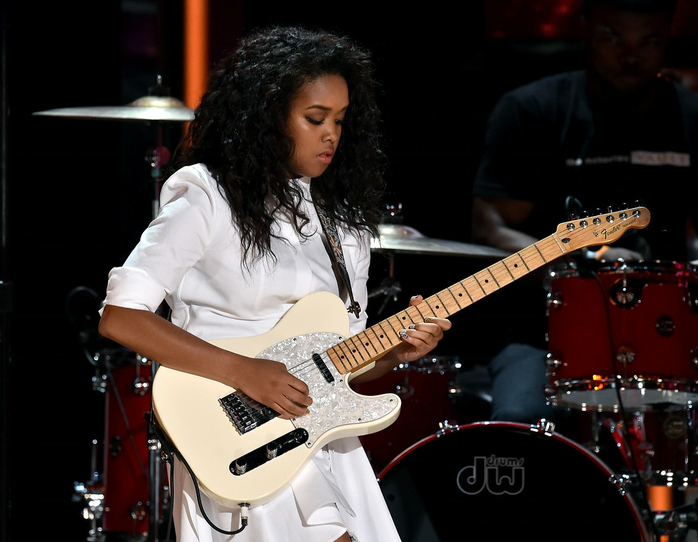 Description of . Musician Gabi Wilson performs onstage during the BET AWARDS '14 at Nokia Theatre L.A. LIVE on June 29, 2014 in Los Angeles, California.  (Photo by Kevin Winter/Getty Images for BET)