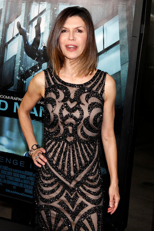 Description of . British actress Finola Hughes poses at the premiere of the new film