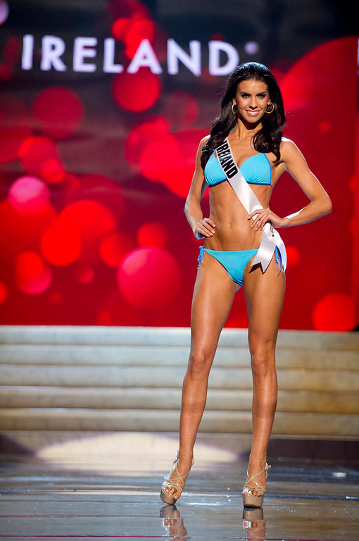 Description of . Miss Ireland 2012 Adrienne Murphy competes during the Swimsuit Competition of the 2012 Miss Universe Presentation Show at PH Live in Las Vegas, Nevada December 13, 2012. The Miss Universe 2012 pageant will be held on December 19 at the Planet Hollywood Resort and Casino in Las Vegas. REUTERS/Darren Decker/Miss Universe Organization L.P/Handout
