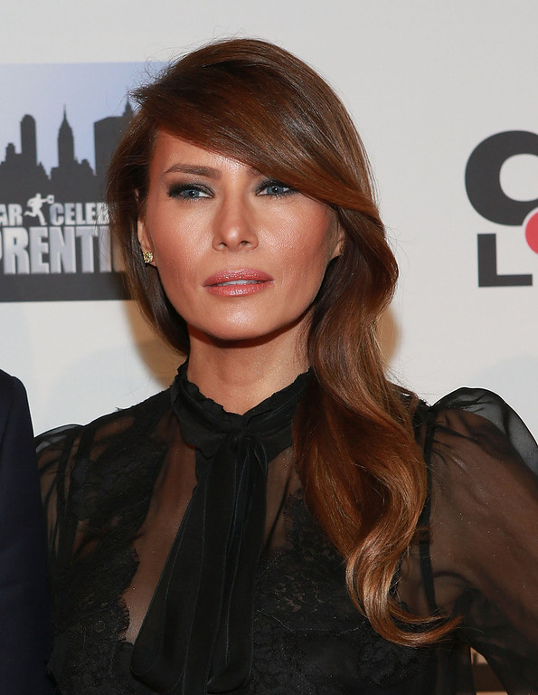 "Description of . Melania Trump attends ""All Star Celebrity Apprentice\"" Finale at Cipriani 42nd Street on May 19, 2013 in New York City.  (Photo by Robin Marchant/Getty Images)"
