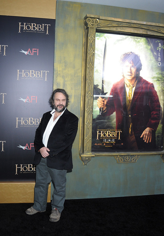 "Description of . Sir Peter Jackson attends ""The Hobbit: An Unexpected Journey\"" New York premiere benefiting AFI at Ziegfeld Theater on December 6, 2012 in New York City.  (Photo by Michael Loccisano/Getty Images)"