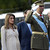 Spain's Prince Felipe (R) salutes next to his wife Princess Letizia as they watch the national day army parade in Madrid. Princess Letizia, the eight-and-a-half-months pregnant wife of Spanish heir to the throne Prince Felipe de Bourbon, was admitted to a private maternity clinic 30 October 2005 on medical advice, the royal palace announced. JAVIER SORIANO/AFP/Getty Images