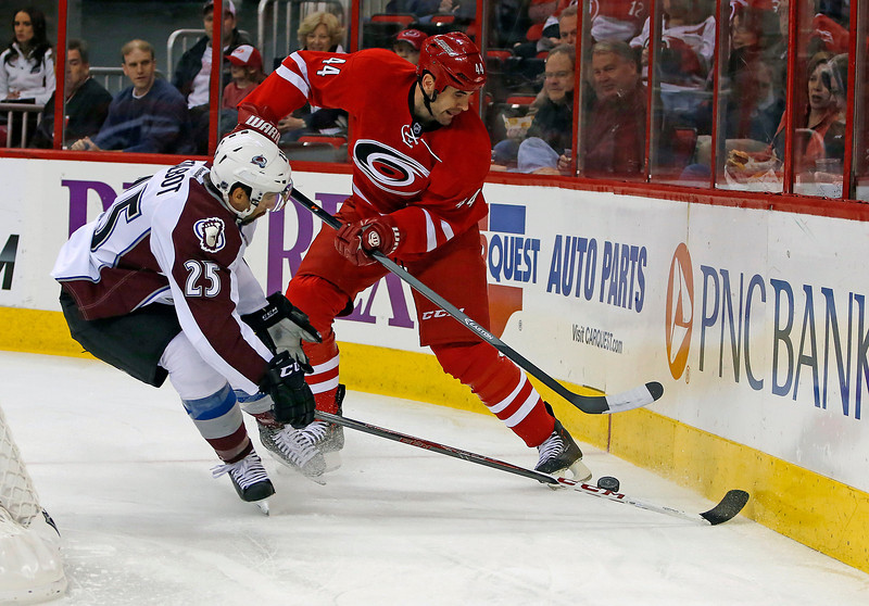 Colorado Avalanche Suffers First Road Loss, At Carolina Against The Hurricanes
