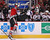 Brent Seabrook #7 of the Chicago Blackhawks dumps Patrick Bordeleau #58 of the Colorado Avalanche over the boards at the United Center on March 6, 2013 in Chicago, Illinois.  (Photo by Jonathan Daniel/Getty Images)