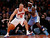 New York Knicks' Jason Kidd (5) dribbles against Denver Nuggets' Ty Lawson during an NBA basketball game, Sunday, Dec. 9, 2012, in New York.  New York beat Denver, 112-106. (AP Photo/Jason DeCrow)
