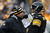Offensive co-ordinator Todd Haley talks to Ben Roethlisberger #7 of the Pittsburgh Steelers during their game against the Clevelend Browns at Heinz Field on December 30, 2012 in Pittsburgh, Pennsylvania.  (Photo by Karl Walter/Getty Images)