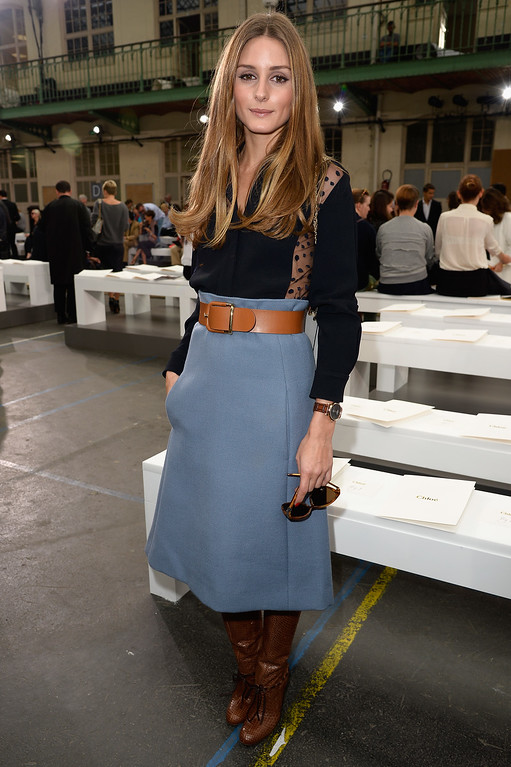 Description of . PARIS, FRANCE - SEPTEMBER 29:  Socialite Olivia Palermo attends the Chloe show as part of the Paris Fashion Week Womenswear Spring/Summer 2014 at Lycee Carnot on September 29, 2013 in Paris, France.  (Photo by Pascal Le Segretain/Getty Images)