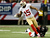 Wide receiver Michael Crabtree #15 of the San Francisco 49ers is tackled after a catch by cornerback Dunta Robinson #23 of the Atlanta Falcons in the first half in the NFC Championship game at the Georgia Dome on January 20, 2013 in Atlanta, Georgia.  (Photo by Kevin C. Cox/Getty Images)
