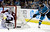 Colorado Avalanche goalie Semyon Varlamov, left, blocks a shot from San Jose Sharks' Joe Thornton (19) during the first period of an NHL hockey game Tuesday, February 26, 2013, in San Jose, Calif. (AP Photo/Ben Margot)