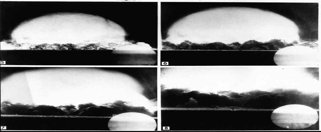 Description of . Nuclear bomb testing 1945. (AP-PHOTO/HO)